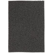 "Glit 24406 TK Polyester Blend Black Stripping Floor Pad, Synthetic Blend Resin, Minerals Grit, 20"" Length x 14"" Width, 175 to 350 rpm (Case of 5)"