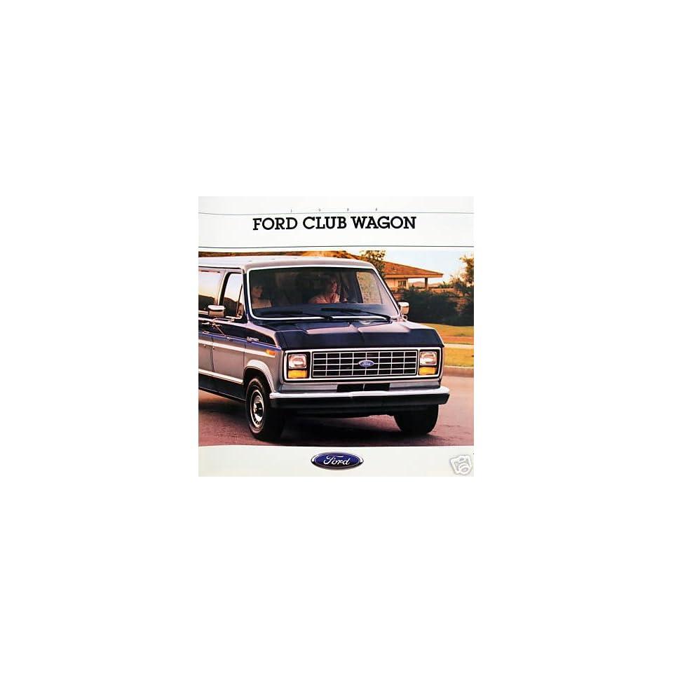 1988 Ford Club Wagon vehicle brochure