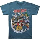 Star Trek Comic Book Style Group Adult T-shirt