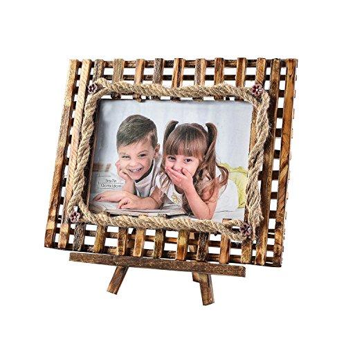 Arpan - Cornice portafoto in legno con cavalletto, idea regalo per Natale - 5''x''7 Inch