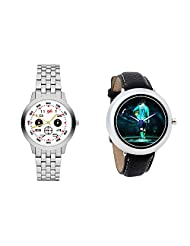 Gledati Men's White Dial And Foster's Women's Black Dial Analog Watch Combo_ADCOMB0001822