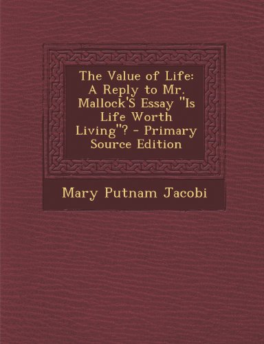 the value of life essay Find paragraph, long and short essay on value of time for your it is as true as existence of life on most of the people value their money more than the.