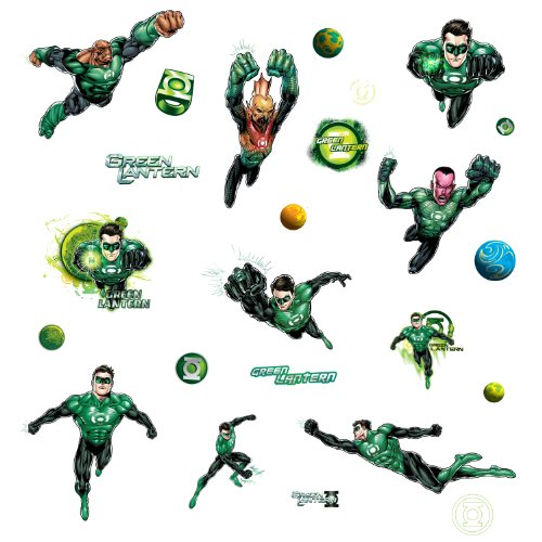 Roommates Rmk1652Scs Green Lantern Peel And Stick Wall Decals - 1