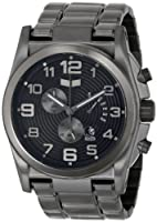 Vestal Men's De Novo Silver/Silver/Black Watch by Vestal