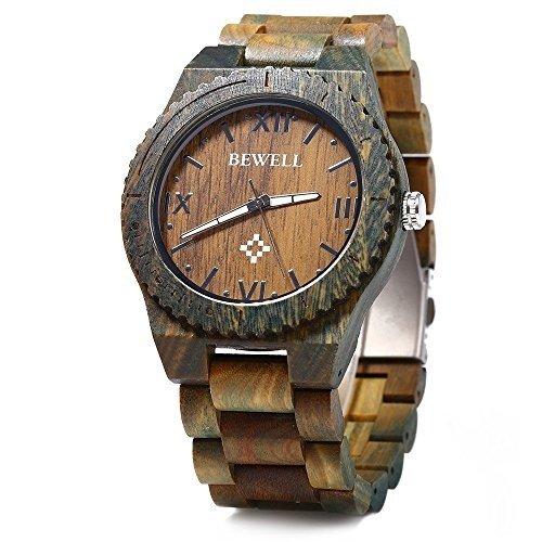 bewell-zs-w065a-reloj-de-cuarzo-analogico-para-hombre-de-madera-con-funsion-del-canlendario-khaki