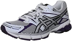 Asics Women's Gt 1000 W White/Silver/Purple Trainer T2L6N 0191 6 UK