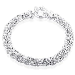 Sterling Silver Byzantine Bracelet - 8