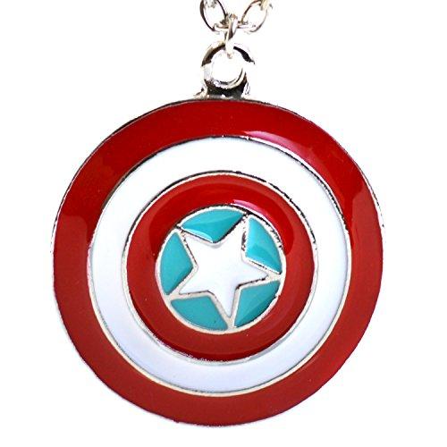 Marvel Captain America Star scudo collana pendente vendicatori Super Hero