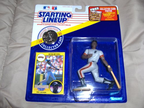 1991 Starting Lineup Kevin Mitchell Special Edition with Collector Coin & Card