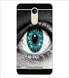 PrintDhaba Blue Eye D-1289 Back Case Cover for XIAOMI REDMI NOTE 3 PRO (Multi-Coloured)