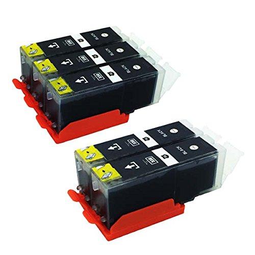 5 x kompatibel Tintenpatronen PGI 550 PGBK XL mit Chip für Canon Pixma IP7250 IP8750 IX6850 MG5450 MG5550 MG6350 MG6450 MG7150 MX725 MX925 iX6850 iP8750
