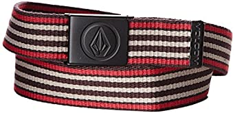 Volcom Circle Web - Ceinture - Uni - Homme - Rouge (Burgundy) - FR: 110 cm (Taille fabricant: O/S)
