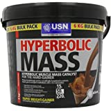 USN Hyperbolic Mass Weight and Muscle Gain Shake Powder, Chocolate - 6 kg