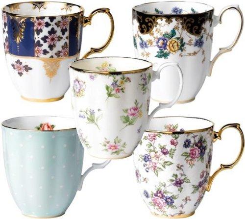 100 Years of Royal Albert 1900-1940 Mugs x5