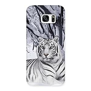 Ajay Enterprises Extant Snow Tiger Back Case Cover for Galaxy S7 Edge