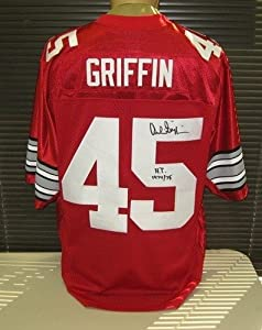 Archie Griffin Signed Ohio State Nike Jersey HT 74 75