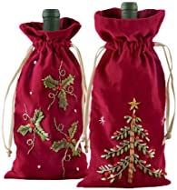 Deck the Halls Wine Bag