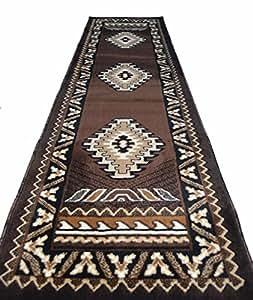 rugs 4 less collection southwest native american indian runner area rug design r4l. Black Bedroom Furniture Sets. Home Design Ideas