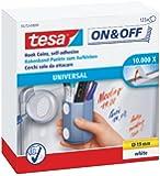 tesa On & Off Klettpunkte zum Aufkleben, weiß, Ø19 mm, 125 Stück