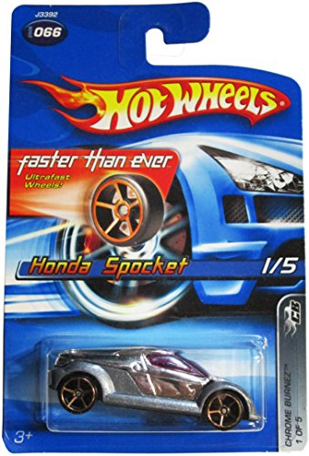 Hot Wheels 2006-066 Honda Sprocket 1/5 Chrome Burnez 1:64 Scale