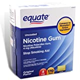 Equate Stop Smoking Aid Original Flavor Gum 4mg