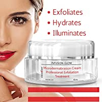 Microdermabrasion Cream by Visio Elan - Exfoliating Face Scrub With Delicate Micro Crystals + Natural Fruit Enzymes Moisturizer - Spa Quality Facial At Home - Exfoliate + Hydrate = Radiance - Men And Women from Visio Elan™