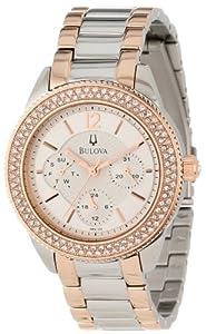 (五星)Bulova Women's 98N100 宝路华 女式 玫瑰金 镶钻腕表 $238.82