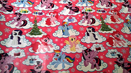 Christmas Wrapping My Little Pony Holiday Paper Gift Greetings 1 Roll Design Festive Wrap Rainbow Dash