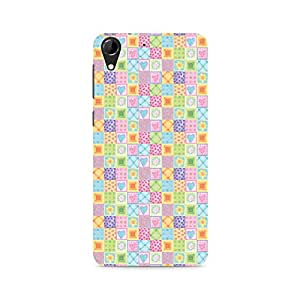 Ebby Abtract Heart Fusion Premium Printed Case For HTC Desire 728