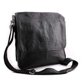 Westenimpression Handmade Men's BAG Fashion Genuine Leather Handbag Shoulder Briefcase Laptop Bag Black New Style
