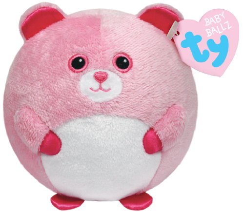 Ty Beanie Ballz Pinky Baby Bear Plush - 1