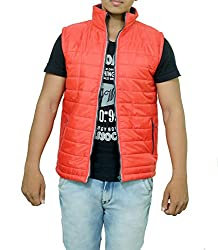 Pragati Traders Men's Polyester Jacket (S-5_S_Red_Small)
