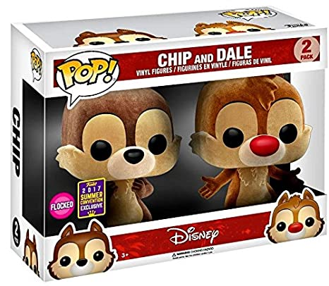 Funko - Figurine Disney - Chip & Dale Flocked SDCC 2017 Pop 10cm - 0889698134521