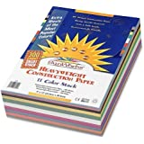 SunWorks Smart-Stack Construction Paper, 9 x 12 Inches, 11 Colors, Super Pack 900 Count
