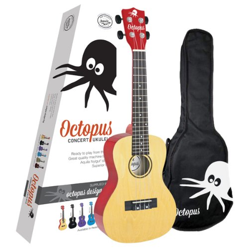 Octopus UK26C-NT Concert Ukulele With Bag and