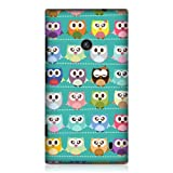 Head Case Designs Green Owl Patterned Kawaii Design Back Case Cover for Nokia Lumia 520
