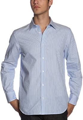 Calvin Klein Men's Long Sleeve Shirt French Front Woven Shirt
