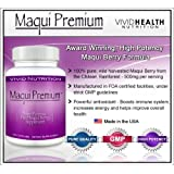 Maqui Premium - High Potency, Super Absorbable Maqui Berry Supplement. The All-Natural Diet, Cleanse & Detox, Antioxidant Superfood product. BETTER than Acai! (500mg - 30 Capsules) ~ Maqui Premium