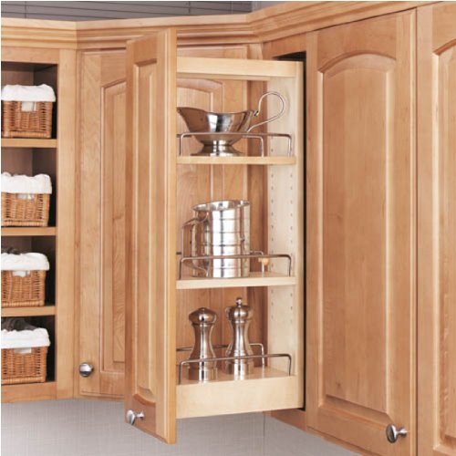Rev-A-Shelf 448-WC-5C Wall Pull Out Shelving System 5-inch Wide