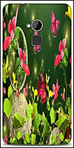 Snoogg Fireflies And Butterflies 2629 Designer Protective Back Case Cover For HTC One-Max