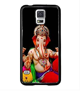 Fuson Premium 2D Back Case Cover Lord Ganesha With Multi Background Degined For Samsung Galaxy S5 G900i::Samsung Galaxy S5 i9600::Samsung Galaxy S5 G900F