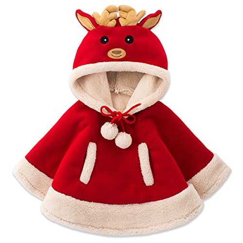 Adorable Reindeer Baby Clothes Cloak Baby Kids Warm Hood Cape Coat