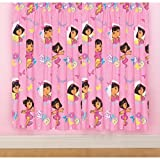 Girls Dora the Explorer Ready Made Curtains Set (66 inch x 72 inch) (Pink)