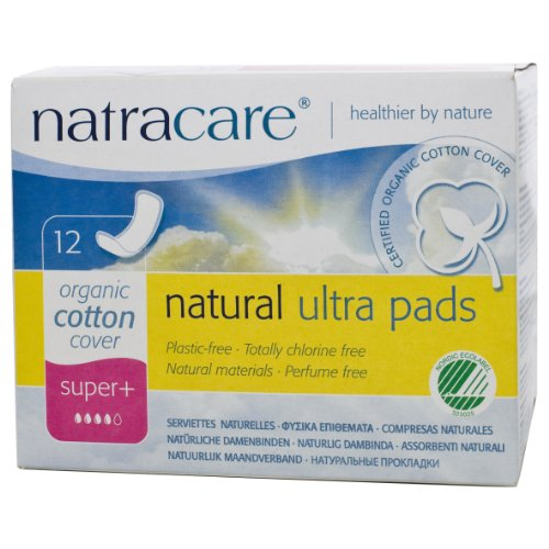 Natracare Organic And Natural Ultra Pads Super Plus- 12 x Packs of 12 (144 Pads)