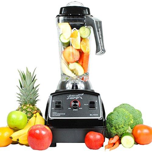 New Age Living BL1500 3HP Smoothie Blender - 5 Year Warranty - Blends Frozen Fruits, Vegetables, Greens, even Ice - Make Pro Quality Shakes & Soups (Smoothie Blenders Commercial compare prices)