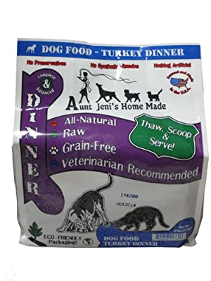 Aunt Jeni's Home Made Raw Dog Food Turkey 5 lb