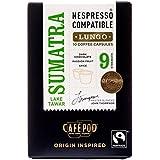 CafePod Nespresso Compatible Arabica Sumatra (Pack of 4, Total 40 Pods)