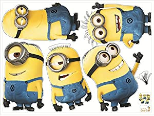 despicable me Minions Wall Stickers - Choose your favourite Minion
