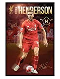 Liverpool Football Club Gloss Black Framed Jordan Henderson LFC Poster 61x91.5cm
