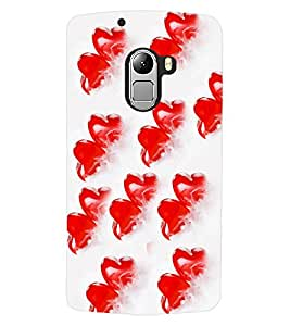 ColourCraft Lovely Heart Pattern Design Back Case Cover for LENOVO A7010